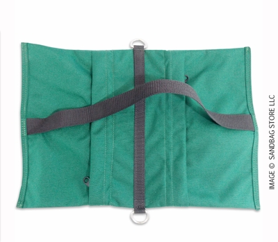 Empty Butterfly / Fly Away Sandbag Heavy Duty 25lb Green 10 pk.