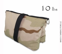 Filled Butterfly/Fly Away Sandbag Heavy Duty 10lb Desert Camo
