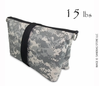 Filled Butterfly/Fly Away Sandbag Heavy Duty 15lb ACU Camo