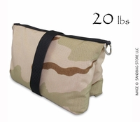 Filled Butterfly/Fly Away Sandbag Heavy Duty 20lb Desert Camo
