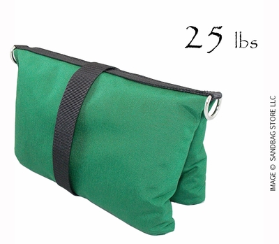 Filled Butterfly/Fly Away Sandbag Heavy Duty 25lb Green