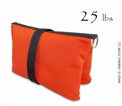 Filled Butterfly/Fly Away Sandbag Heavy Duty 25lb Orange