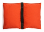 Filled Heavy Duty Saddle Sandbag 10lb Orange