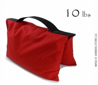 Filled Heavy Duty Saddle Sandbag 10lb Red