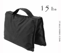 Filled Heavy Duty Saddle Sandbag 15lb Black