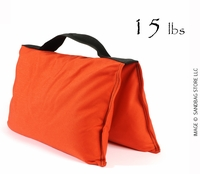 Filled Heavy Duty Saddle Sandbag 15lb Orange