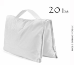 Filled Heavy Duty Saddle Sandbag 20lb White