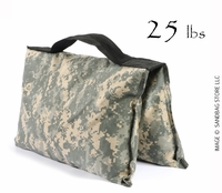 Filled Heavy Duty Saddle Sandbag 25lb Digital Camo