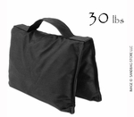 Filled Heavy Duty Saddle Sandbag 30lb Black