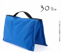 Filled Heavy Duty Saddle Sandbag 30lb Blue