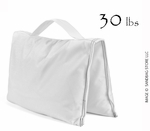 Filled Heavy Duty Saddle Sandbag 30lb White
