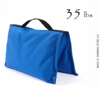 Filled Heavy Duty Saddle Sandbag 35lb Blue