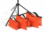 Filled Heavy Duty Saddle Sandbag 35lb Orange