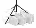 Filled Heavy Duty Saddle Sandbag 35lb White