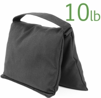 Filled Heavy Duty Single Pocket Saddle Sandbag, 10lb Black