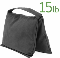 Filled Heavy Duty Single Pocket Saddle Sandbag, 15lb Black