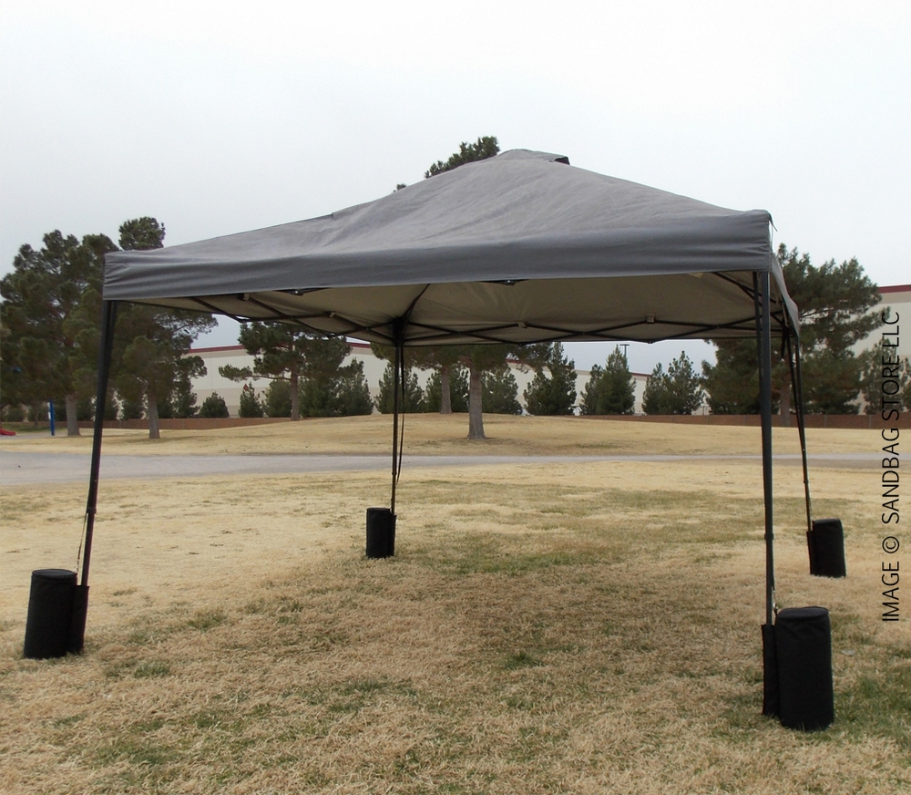 Canopy Sandbags™ Black 4 Pack & Heavy Duty Black Canopy Tent Sandbags 4 Pack from The Sandbag Store