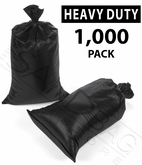 Poly Sandbag, Heavy Duty Black 1,000 pk.