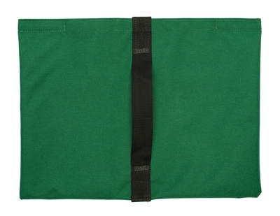 Heavy Duty Saddle Sandbag Empty 20lb Capacity Green