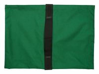 Heavy Duty Saddle Sandbag Empty 35lb Capacity Green