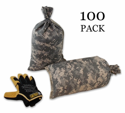 Mini Sandbag, Heavy Duty 8x14 ACU Camo 100 pk.