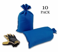 Mini Sandbag, Heavy Duty 8x14 Blue 10 pk.