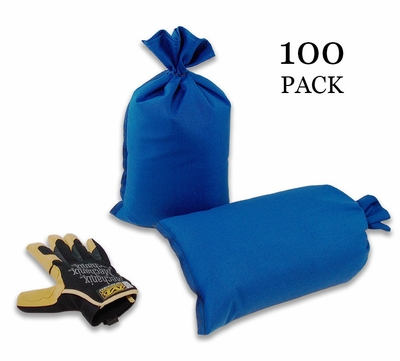 Mini Sandbag, Heavy Duty 8x14 Blue 100 pk.