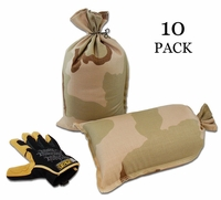 Mini Sandbag, Heavy Duty 8x14 Desert Camo 10 pk.