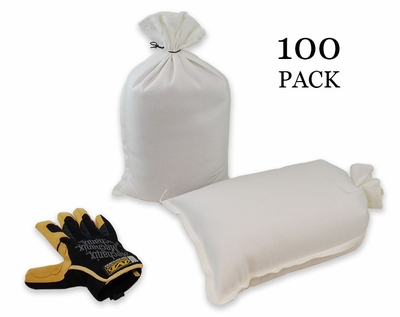 Mini Sandbag, Heavy Duty 8x14 White 100 pk.