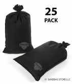 Armor Sandbag, Heavy Duty 14x28 Black 25 Pack