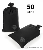 Armor Sandbag, Heavy Duty 14x28 Black 50 Pack