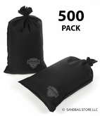 Armor Sandbag, Heavy Duty 14x28 Black 500 Pack