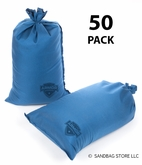Armor Sandbag, Heavy Duty 14x28 Blue 50 Pack