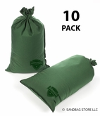 Armor Sandbag, Heavy Duty 14x28 Green 10 Pack