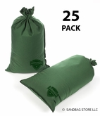 Armor Sandbag, Heavy Duty 14x28 Green 25 Pack