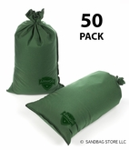 Armor Sandbag, Heavy Duty 14x28 Green 50 Pack