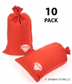 Armor Sandbag, Heavy Duty 14x28 Orange 10 Pack