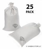 Armor Sandbag, Heavy Duty 14x28 White 25 Pack
