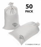 Armor Sandbag, Heavy Duty 14x28 White 50 Pack