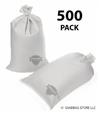 Armor Sandbag, Heavy Duty 14x28 White 500 Pack