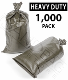 Poly Sandbag, Heavy Duty Green 1,000 pk.