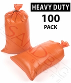 Poly Sandbag, Heavy Duty Orange 100 pk.