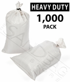 Poly Sandbag, Heavy Duty White 1,000 pk