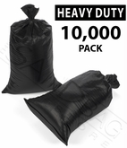 Poly Sandbag, Heavy Duty Black 10,000 pk.