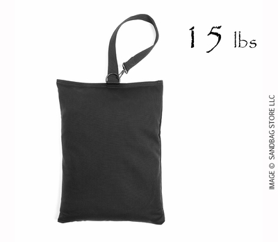 Top Handle Shot Bag, 15lb Black