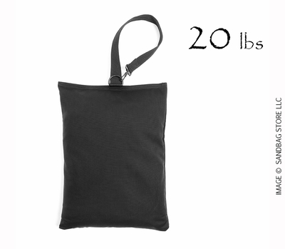 Top Handle Shot Bag, 20lb Black