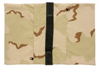 Zippered Saddle Sandbag, Empty 30-40 lb Capacity Desert Camo