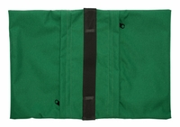 Zippered Saddle Sandbag, Empty 30-40 lb Capacity Green
