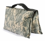Zippered Saddle Sandbag, Empty 5-10 lb Capacity ACU Camo