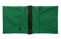 Zippered Saddle Sandbag, Empty 5-10 lb Capacity Green